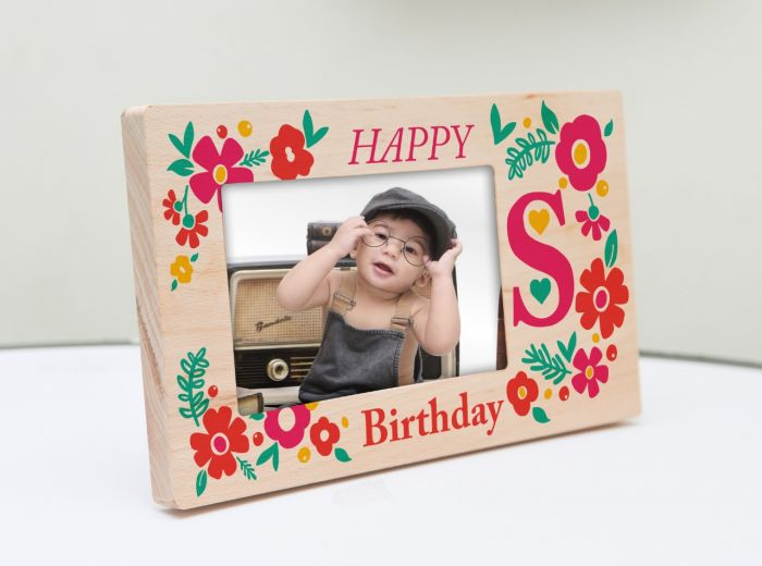 Natural wood printed frame for kids. Delivered to Bengaluru, Chennai, Delhi, Gurgaon, Hyderabad, Mumbai, and across India.