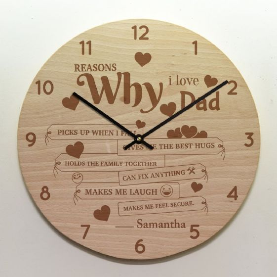 Engraved Clock for Grandfather, Bengaluru, Chennai, Hyderabad