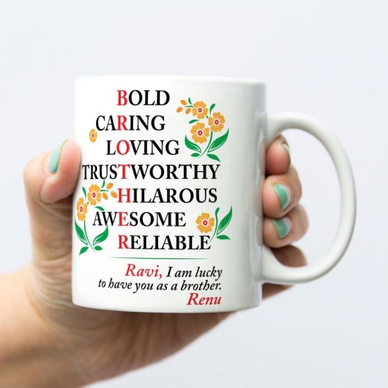 Mugs for Brother, Chennai, Bengaluru, Hyderabad
