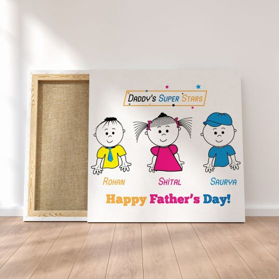 Canvas Print : Daddy's Super Stars