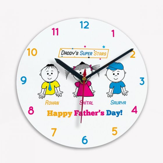 Clock: Design - Daddys Super Stars