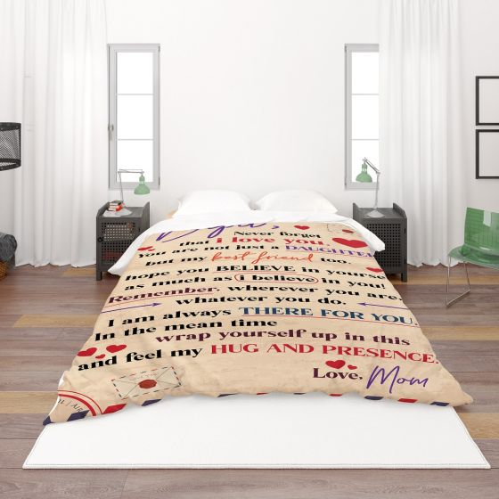 Letter to daughter quilt,blanket