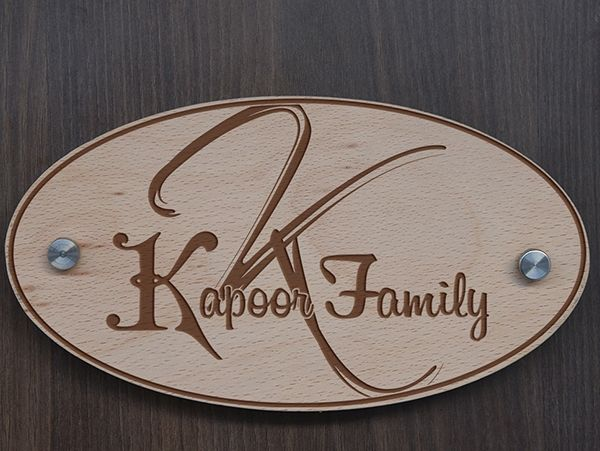 Wooden engraved Name plates in Delhi