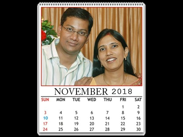 Photo calendar, your photo on calendar, printing on photo calendar