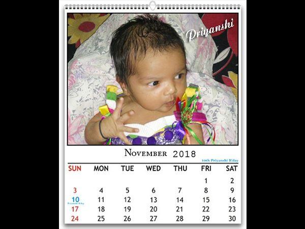Photo calendar, your photo on calendar, printing on photo calendar