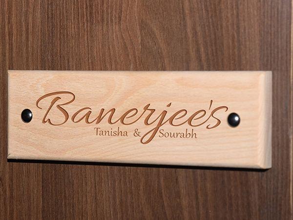 Engraved wooden name plates Kolkata