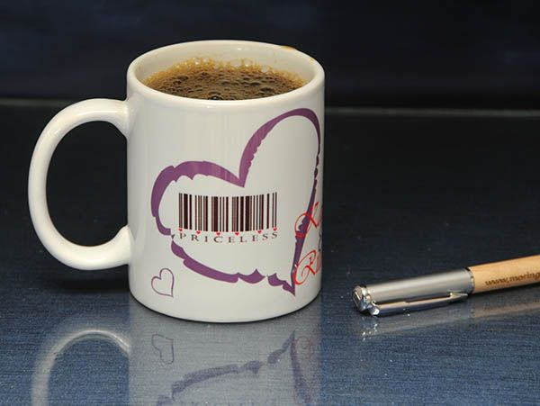 Barcode mug with personalization