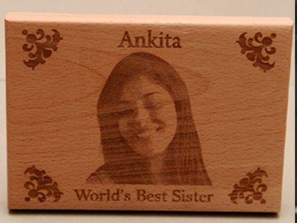 Photo engraving on wood. Delhi, Gurgaon, Noida.