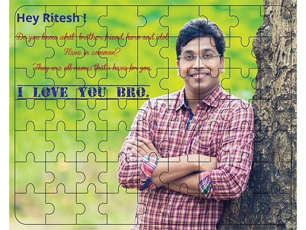 Gift for brother. Custom made jigsaw puzzle in Delhi, NCR