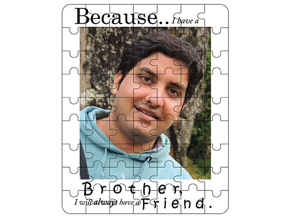 Gift for brother, print wooden jigsaw in pune.