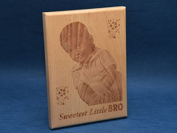 Gifts for little brother, nephew. Engraving on wood pune.