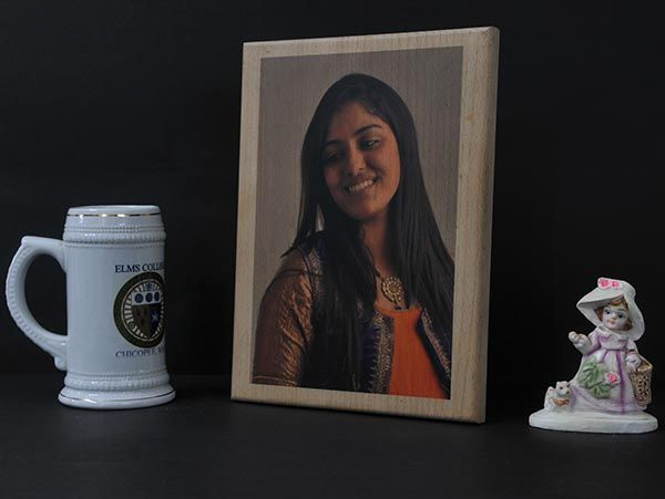 Print on wood in Mumbai, personalized with photo  and message