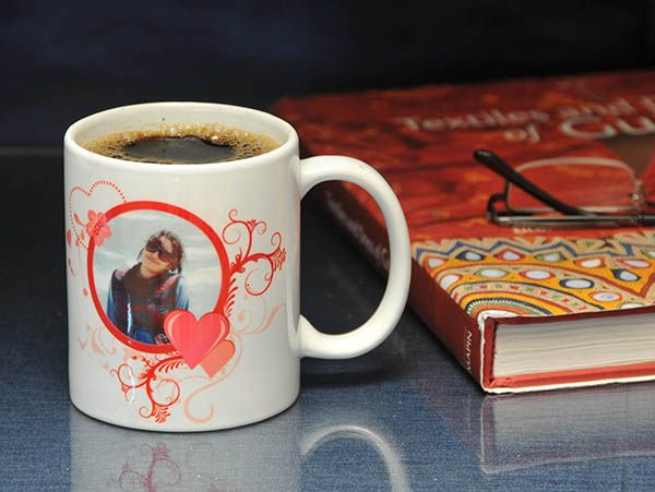 Personalized photo mugs for anniversary. All India Delivery