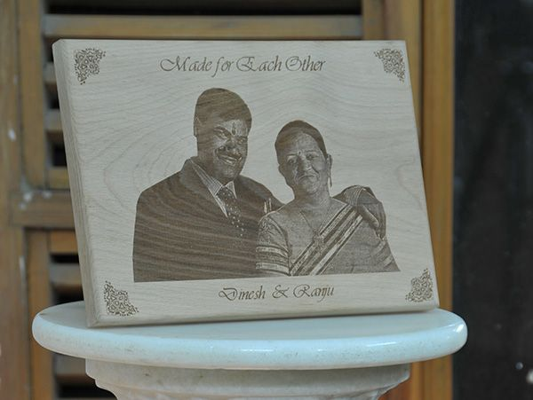 Engraved gifts in Pune. Wooden plaques personalized