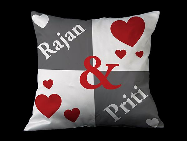 personalized pillow covers with message, names and quotes