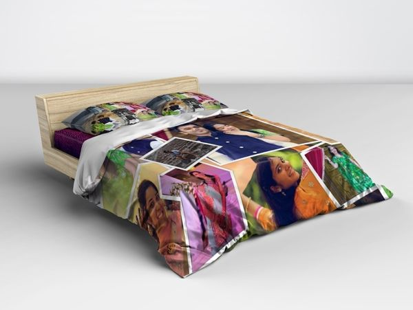 Print personalized photo collage bed sheets in chennai.