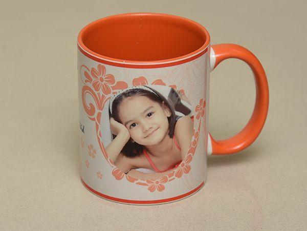 Personalized orange Mug.chennai