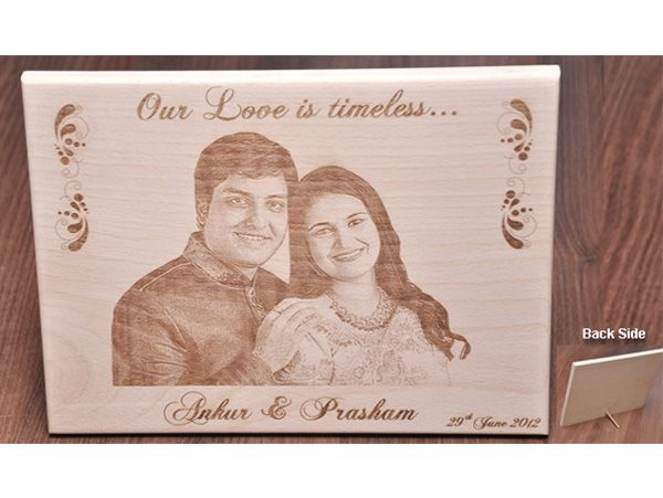 Engraved wooden gifts. Custom made photo plaques.