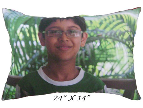 """Personalised Photo Pillow 24"""" x 14"""""""