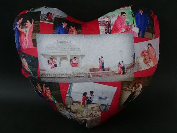 Print customized heart (Dil) shape cushions in Delhi
