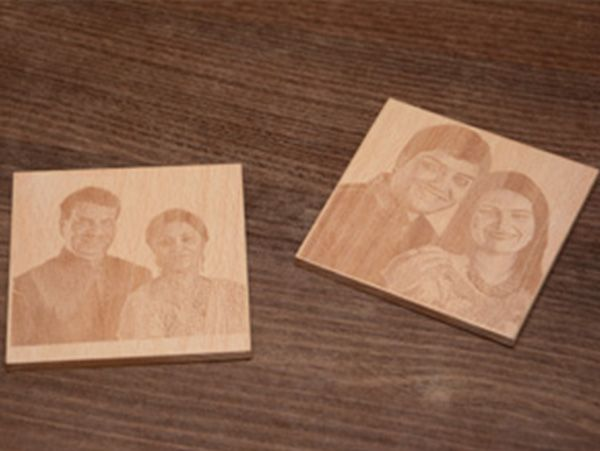 Photo engraved coasters: