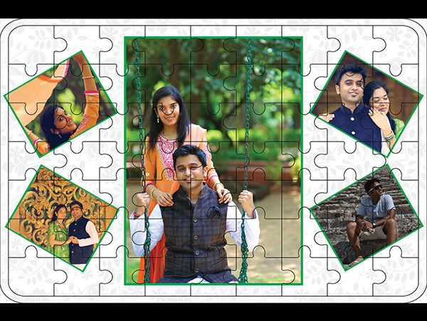 Custom made photo collage wooden jigsaw puzzle in Gurgaon-India