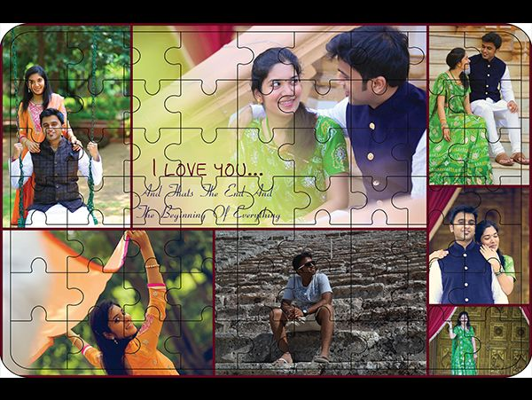 Personalized collage wooden puzzle in Bengaluru