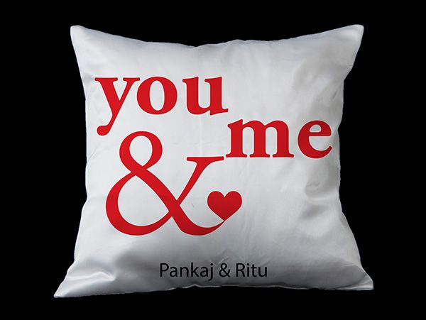 You & Me personalized cushion