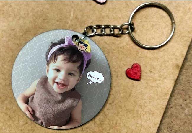 Personalized photo key chain, Delhi