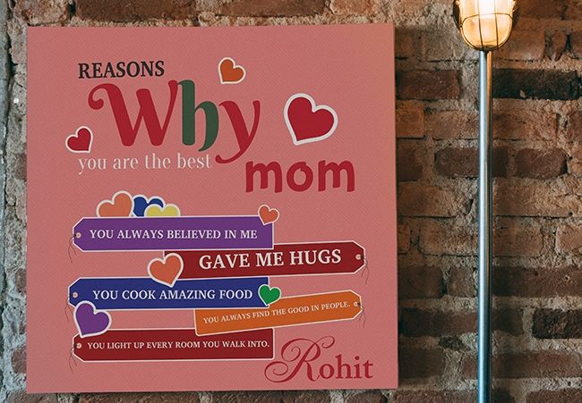 Personalized Canvas For Mom, Mumbai