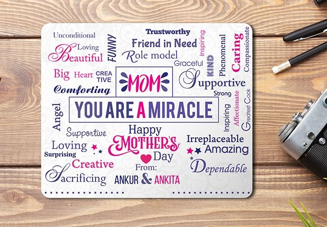 Personalized Mouse pad for mom in Mumbai