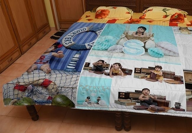 Customized photo quilt for mother in chandigarh