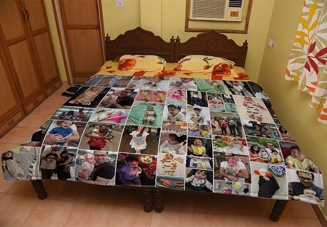 Customized photo quilt for mother Jaipur