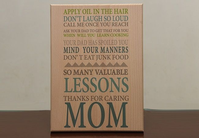 Gift for Mom - Print On Wood. Ahmedabad.