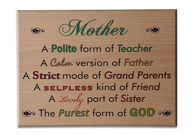 Personalized Wooden Plaque - Forms Of Mom