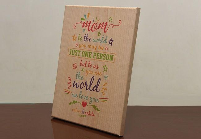 Print On Wood: Whole World