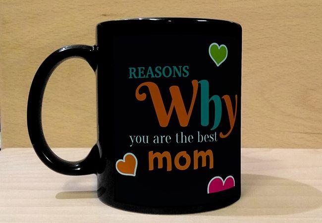 Black Mug for Mom. Mumbai