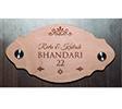 Personalized engraving photo on wooden Name Plate. Mumbai, Bengaluru, Delhi, Chennai